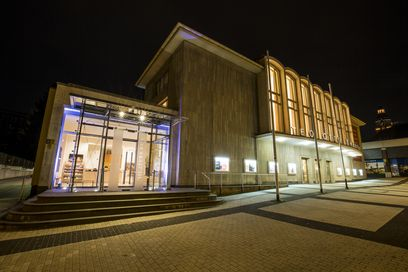 Theater Seite Nacht